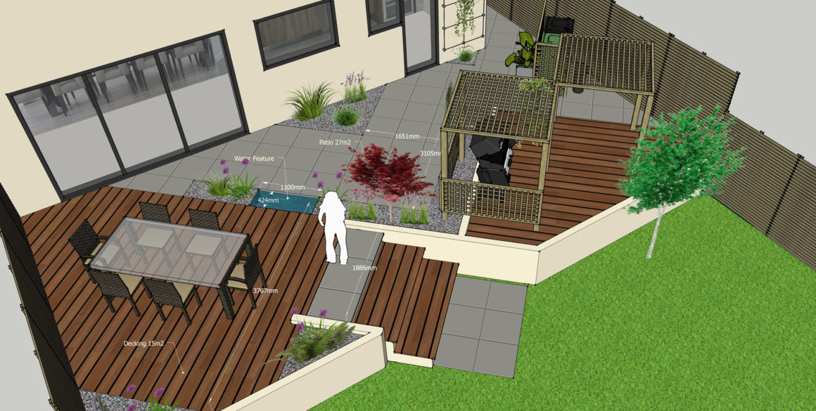 Dimensioned Garden View