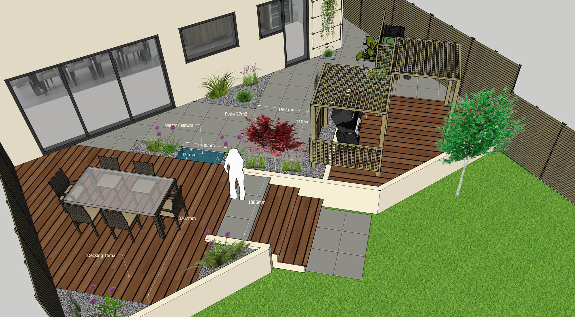 New Build Home - The Blank Canvas | Garden Design Concepts