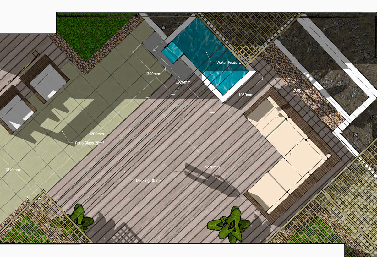 Plan View Example Dimensioned 01